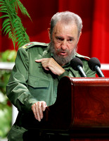 Fidel Castro at the Karl Marx Theater in Havana in 2005